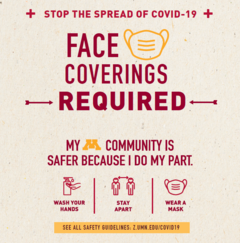 Face coverings required at in-person workshops